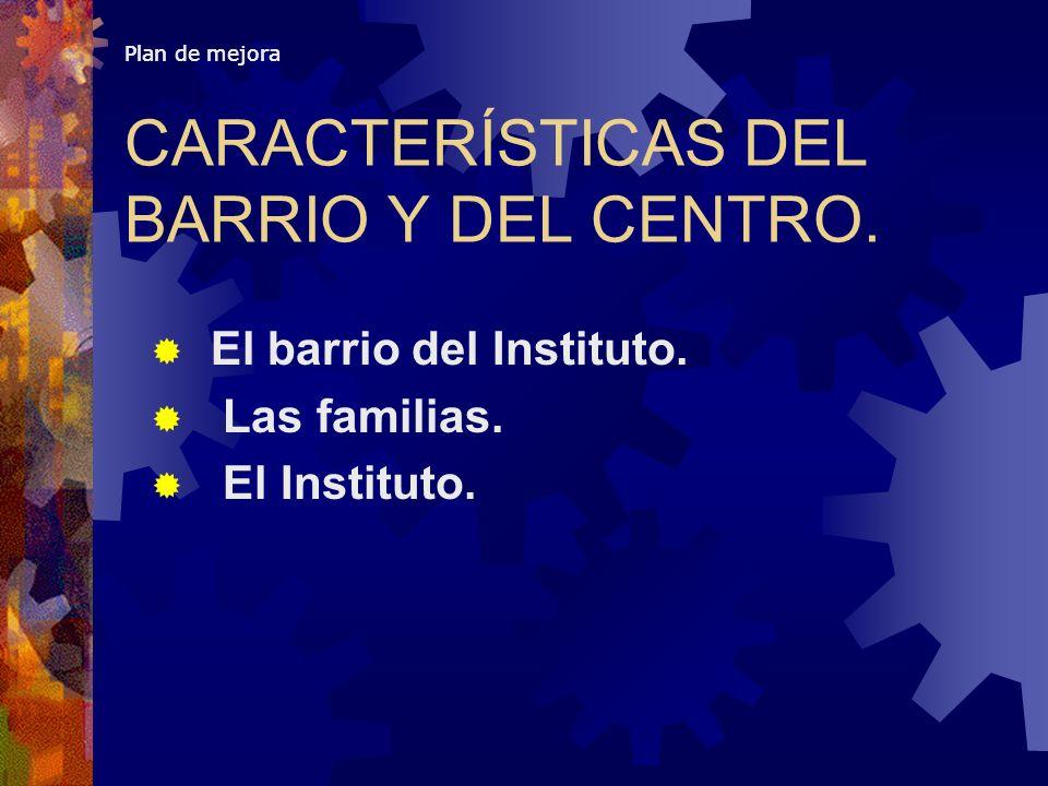 CARACTERÍSTICAS DEL BARRIO Y DEL CENTRO.