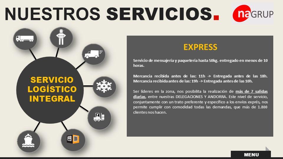 NUESTROS SERVICIOS. EXPRESS SERVICIO LOGÍSTICO INTEGRAL