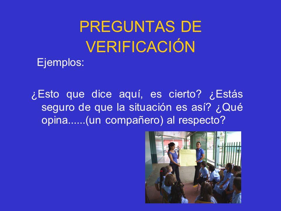 PREGUNTAS DE VERIFICACIÓN