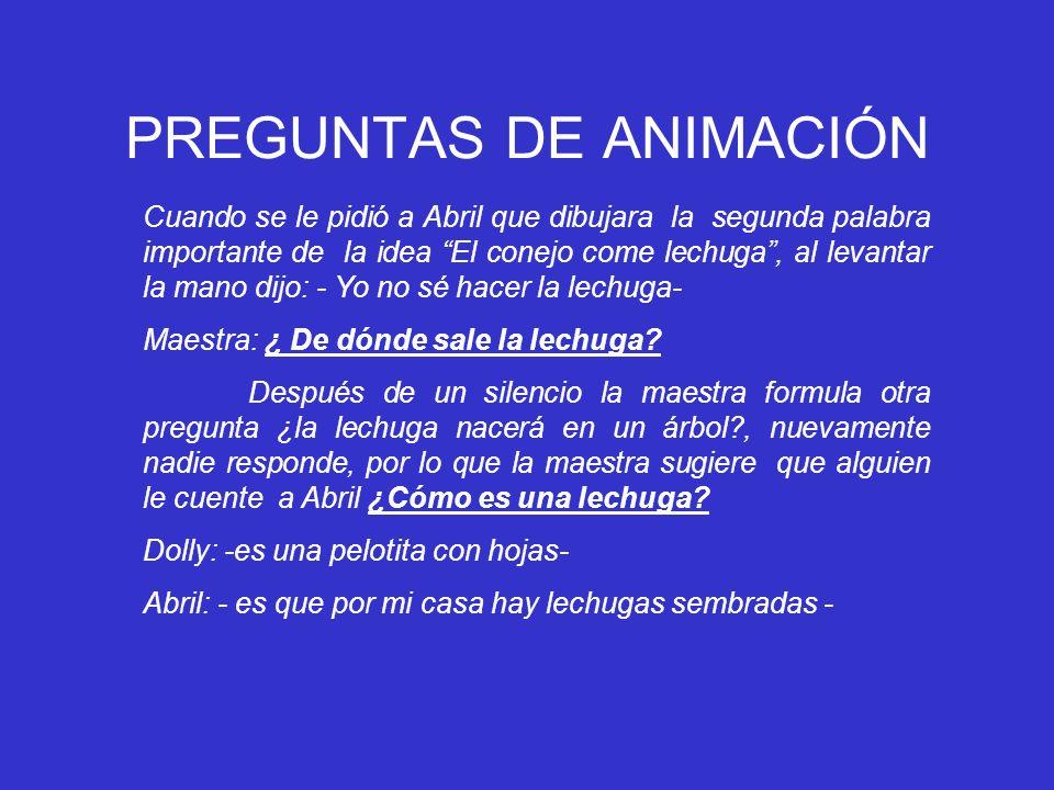 PREGUNTAS DE ANIMACIÓN