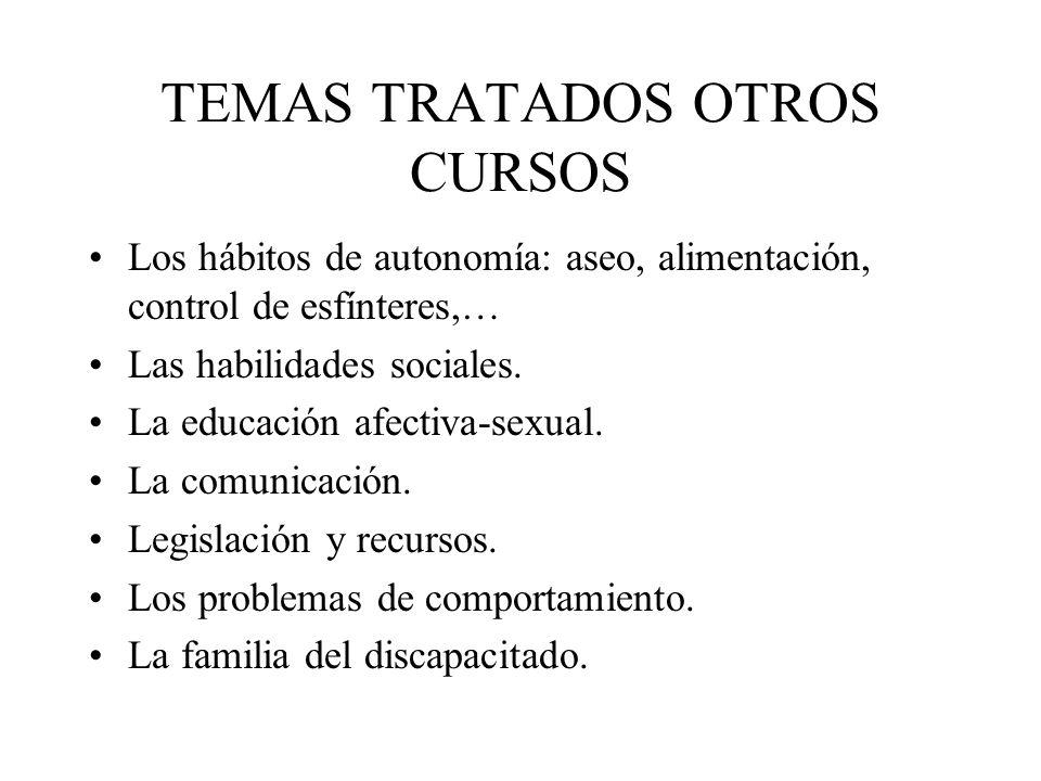 TEMAS TRATADOS OTROS CURSOS