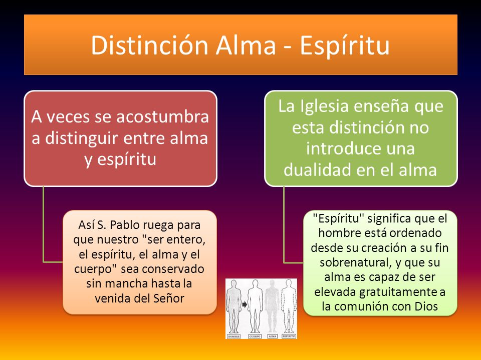 Distinción Alma - Espíritu