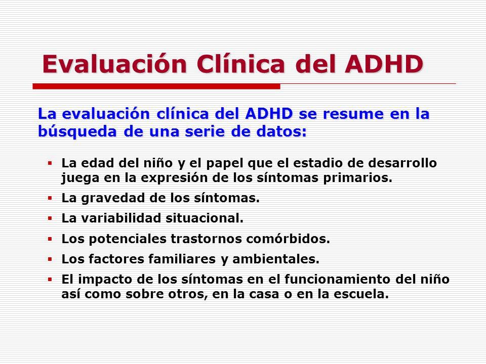 Evaluación Clínica del ADHD