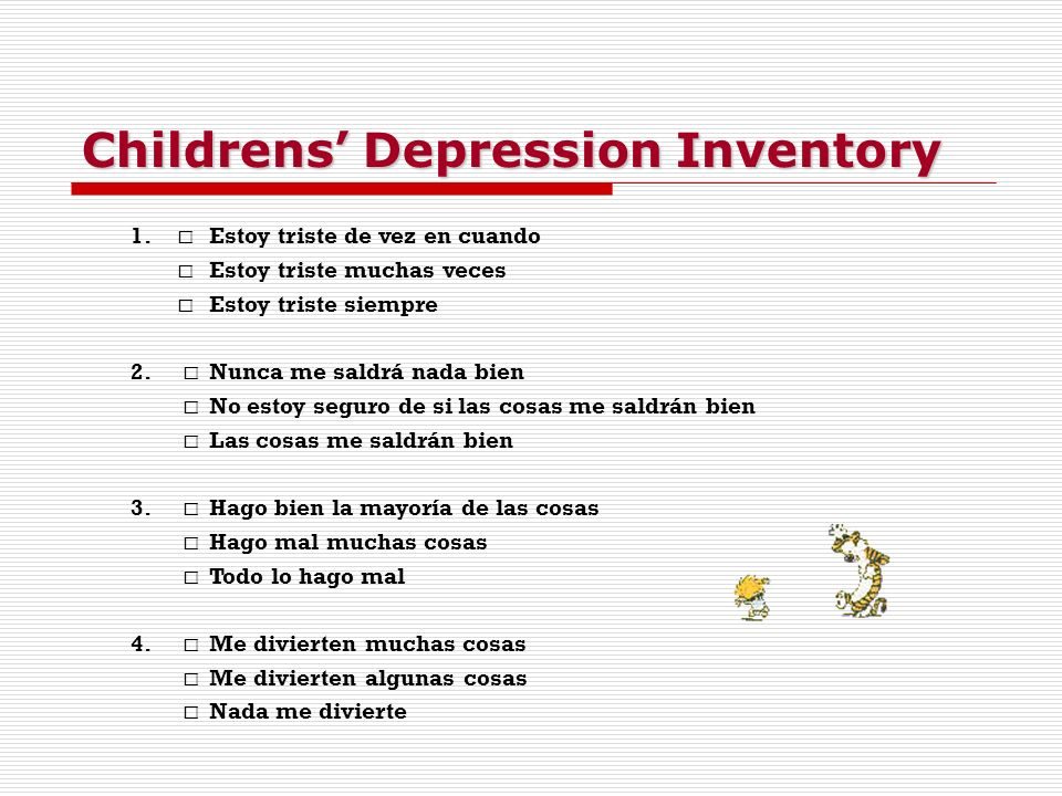 Childrens' Depression Inventory