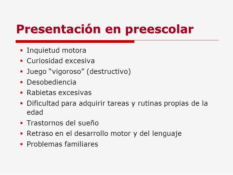 Presentación en preescolar