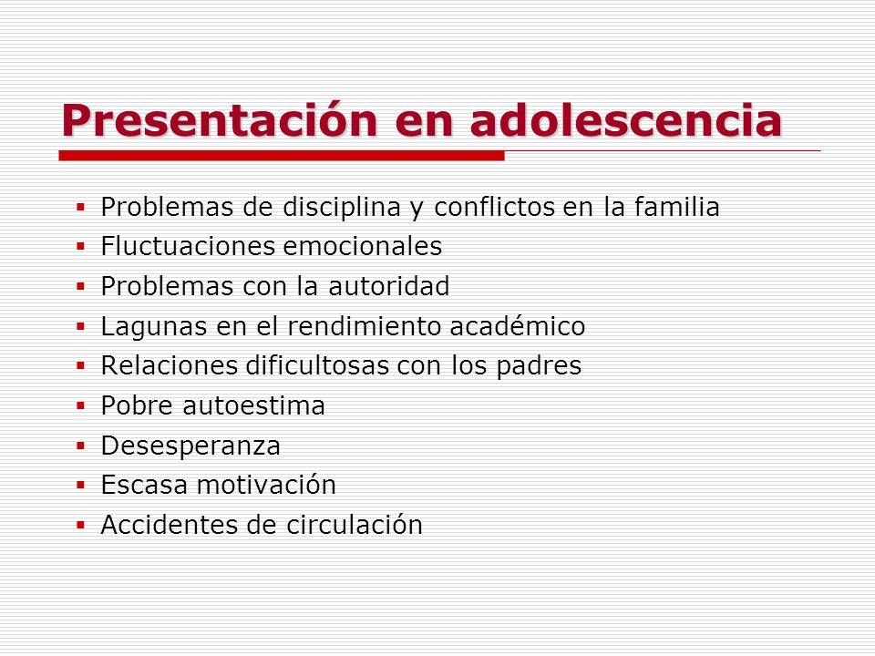 Presentación en adolescencia