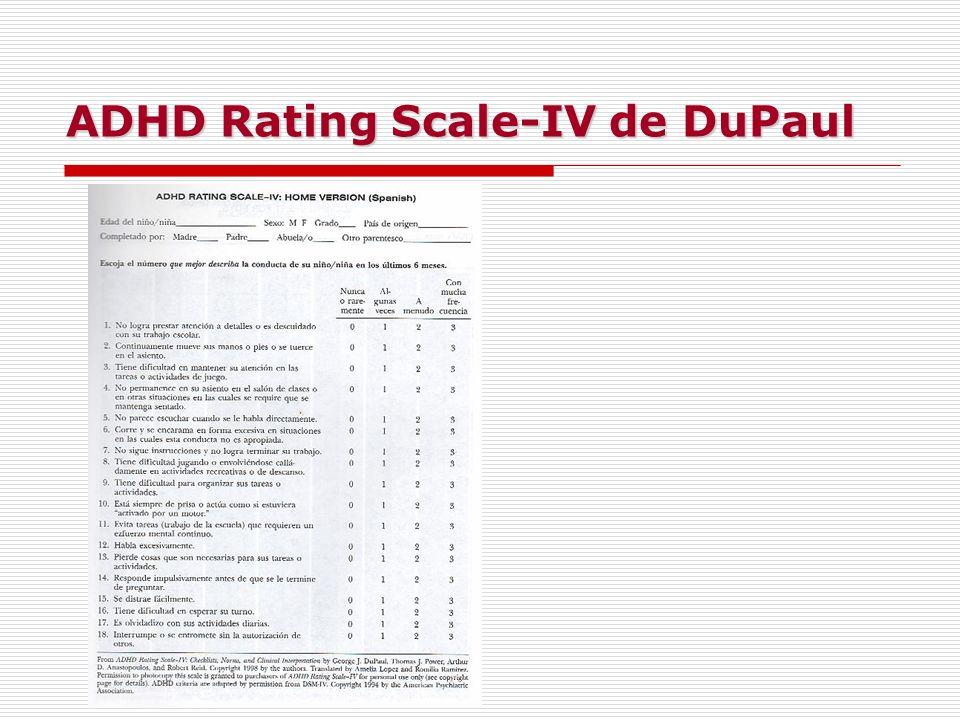 ADHD Rating Scale-IV de DuPaul