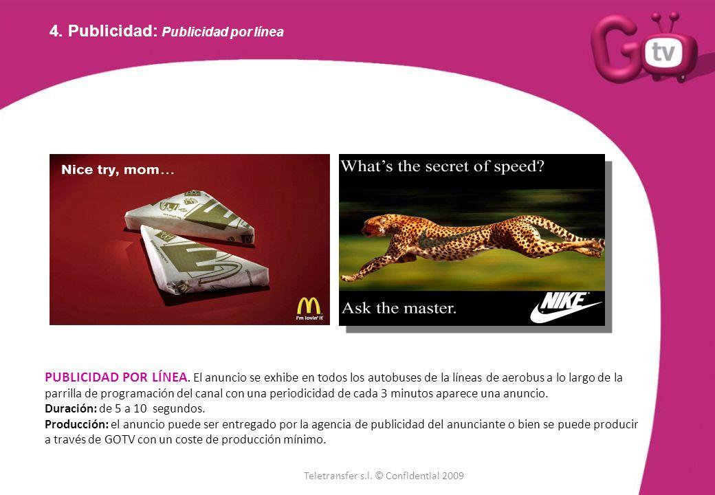 4. Publicidad: Publicidad por línea