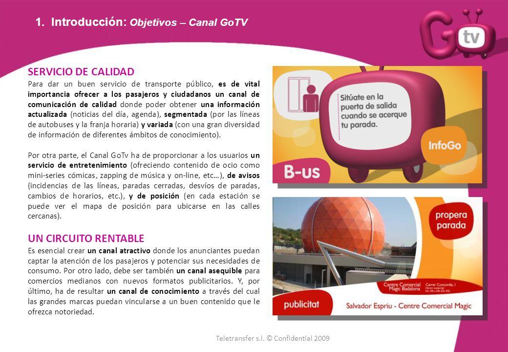 1. Introducción: Objetivos – Canal GoTV