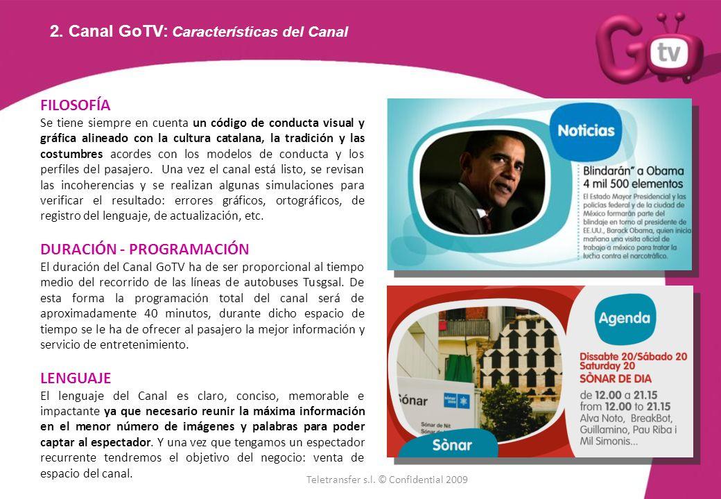 2. Canal GoTV: Características del Canal