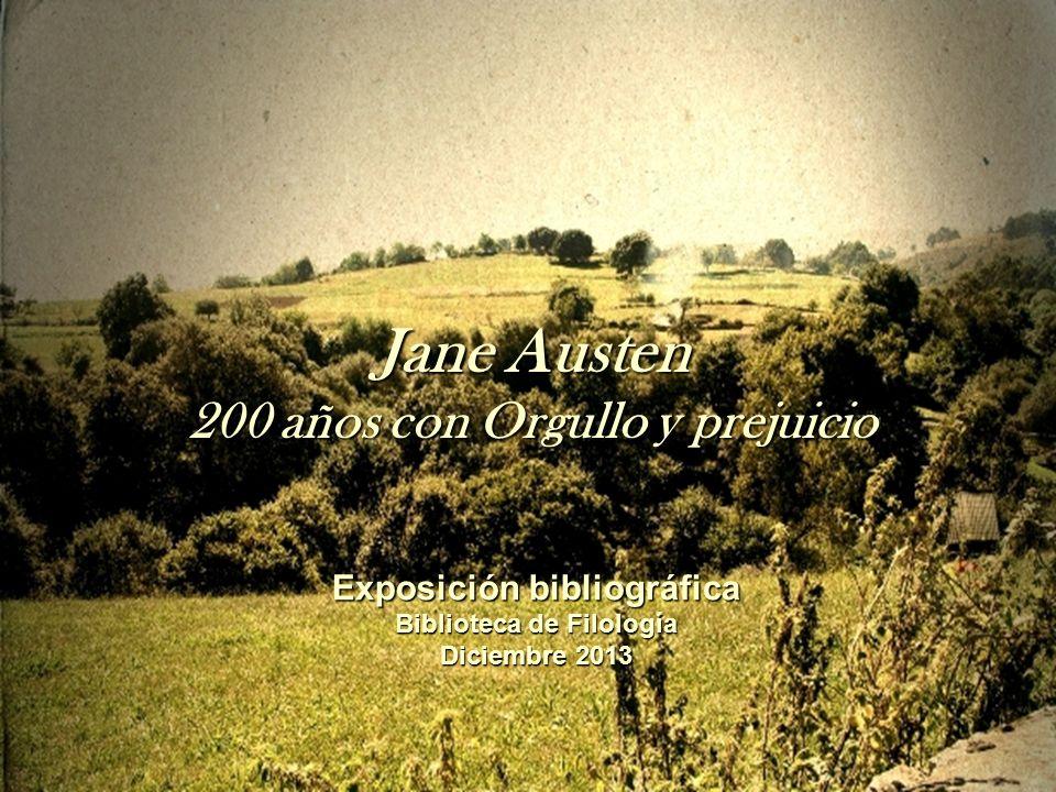 Jane Austen 200 años con Orgullo y prejuicio Exposición bibliográfica
