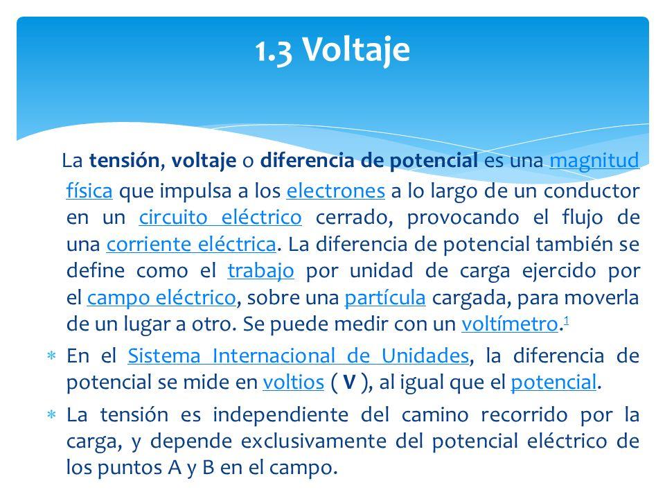1.3 Voltaje
