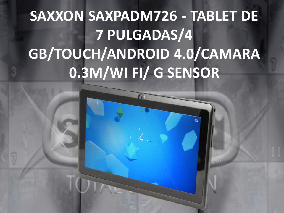 SAXXON SAXPADM726 - TABLET DE 7 PULGADAS/4 GB/TOUCH/ANDROID 4