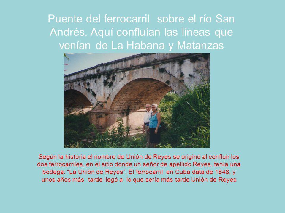 Puente del ferrocarril sobre el río San Andrés