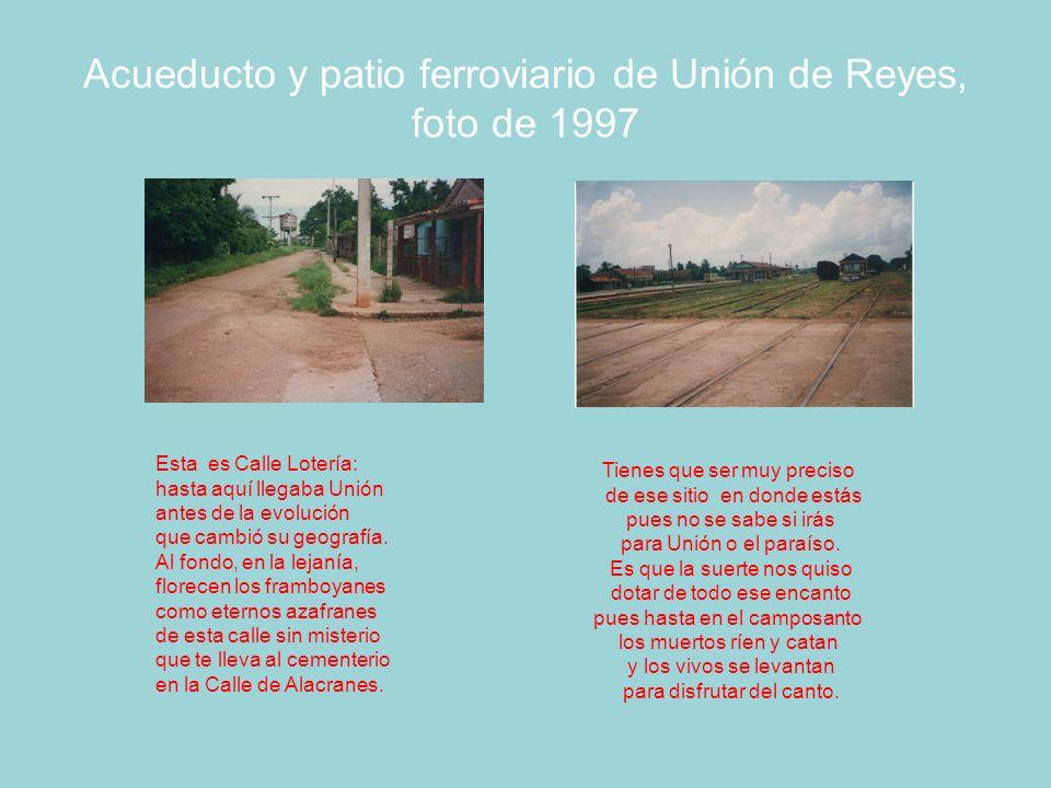 Acueducto y patio ferroviario de Unión de Reyes, foto de 1997
