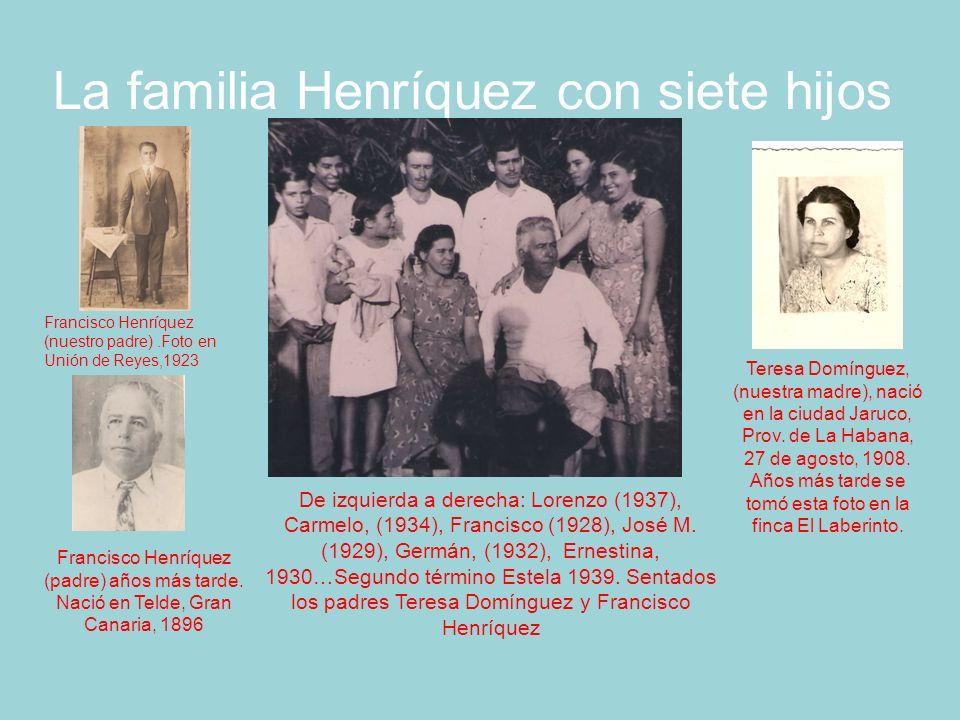 La familia Henríquez con siete hijos