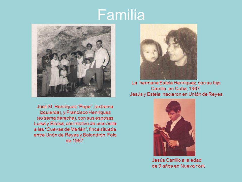 Familia La hermana Estela Henríquez, con su hijo Carrillo, en Cuba, 1967. Jesús y Estela nacieron en Unión de Reyes.