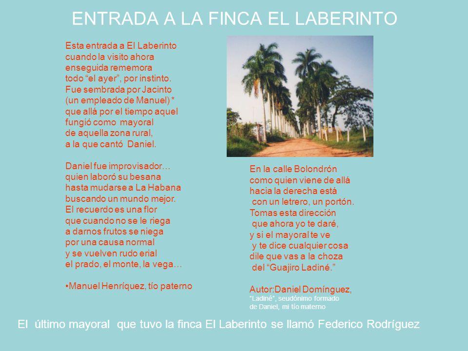 ENTRADA A LA FINCA EL LABERINTO