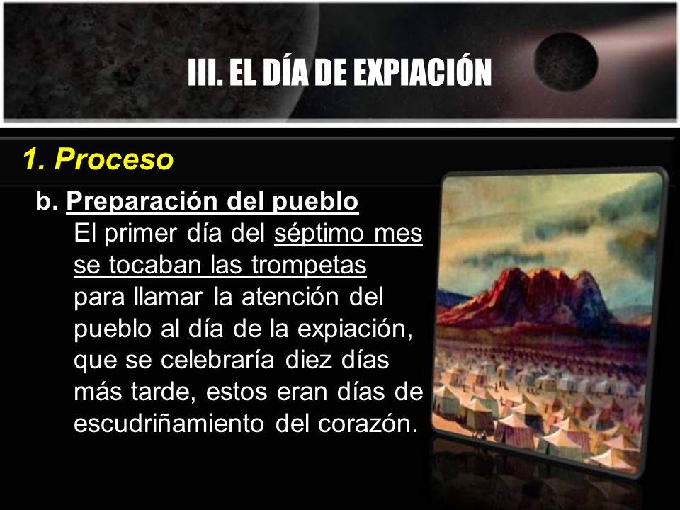 III. EL DÍA DE EXPIACIÓN 1. Proceso b. Preparación del pueblo
