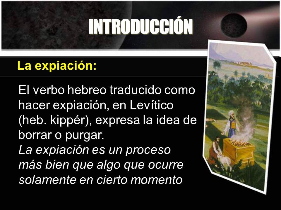 INTRODUCCIÓN La expiación: