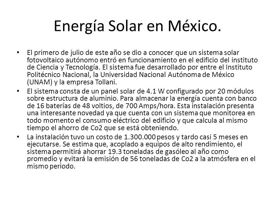 Energía Solar en México.