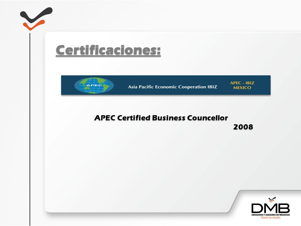 APEC Certified Business Councellor