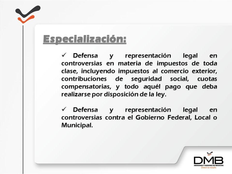 Especialización: