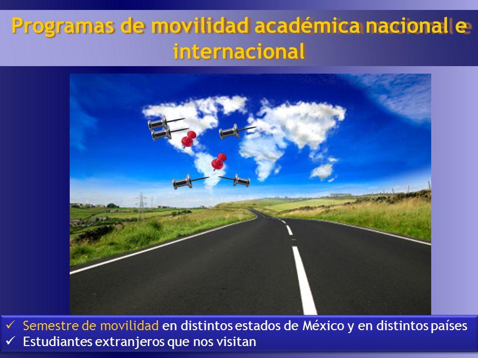 Programas de movilidad académica nacional e internacional