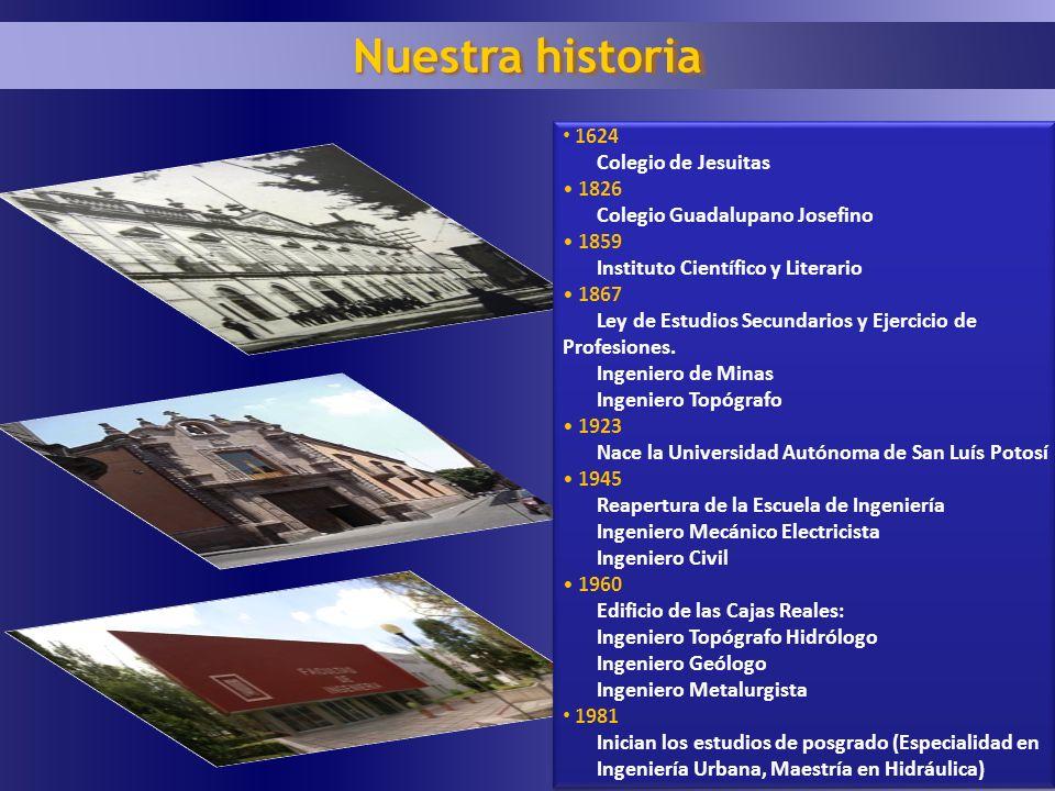 Nuestra historia 1624 Colegio de Jesuitas 1826