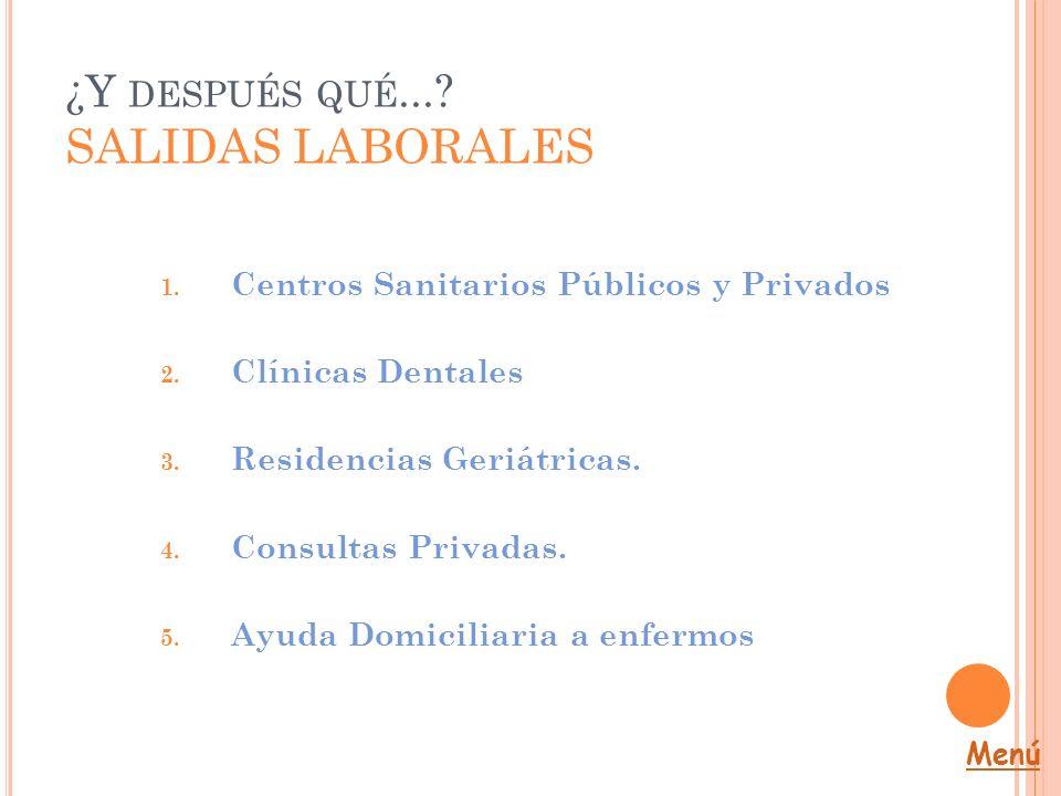 ¿Y después qué... SALIDAS LABORALES