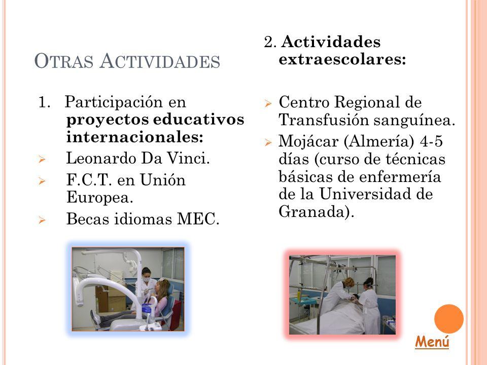 Otras Actividades 2. Actividades extraescolares: