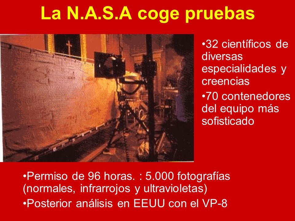 La N.A.S.A coge pruebas 32 científicos de diversas especialidades y creencias. 70 contenedores del equipo más sofisticado.