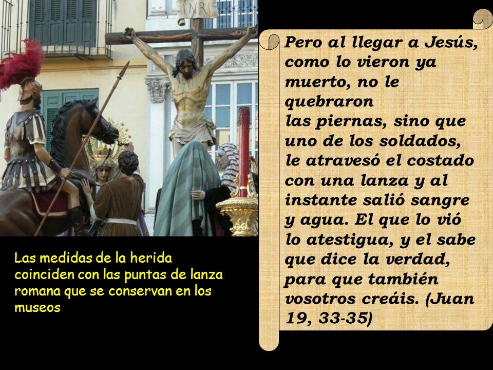 Pero al llegar a Jesús, como lo vieron ya muerto, no le quebraron