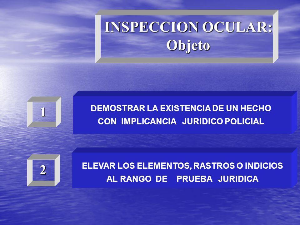 INSPECCION OCULAR: Objeto