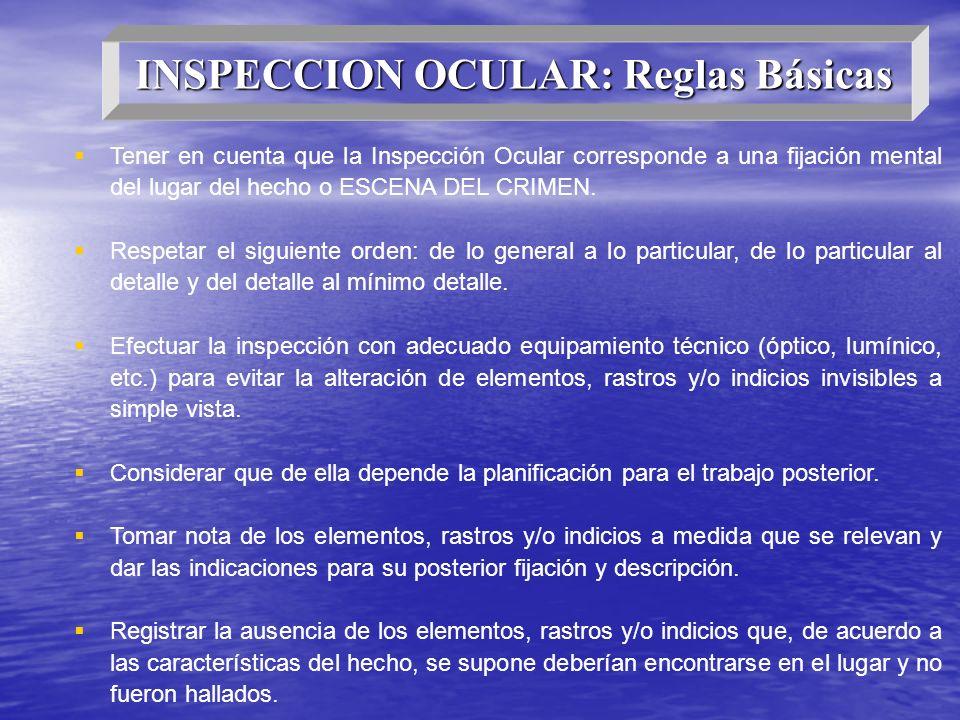 INSPECCION OCULAR: Reglas Básicas