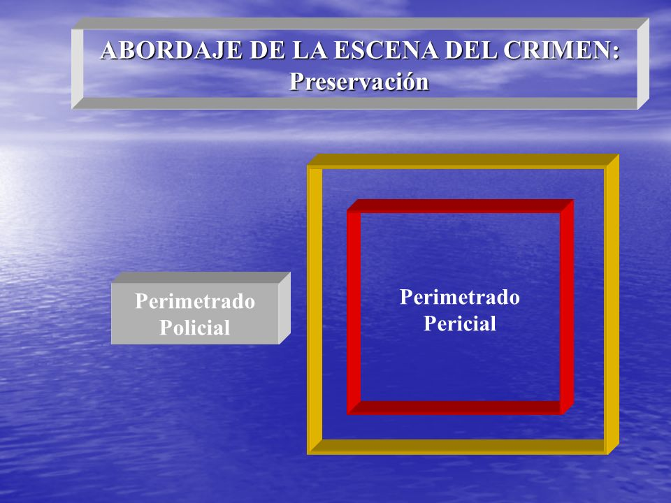 ABORDAJE DE LA ESCENA DEL CRIMEN: