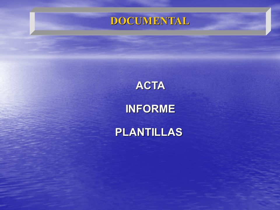 DOCUMENTAL ACTA INFORME PLANTILLAS