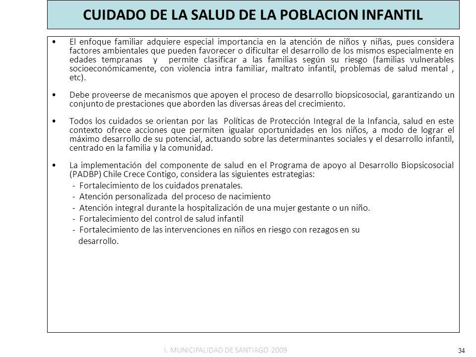 CUIDADO DE LA SALUD DE LA POBLACION INFANTIL