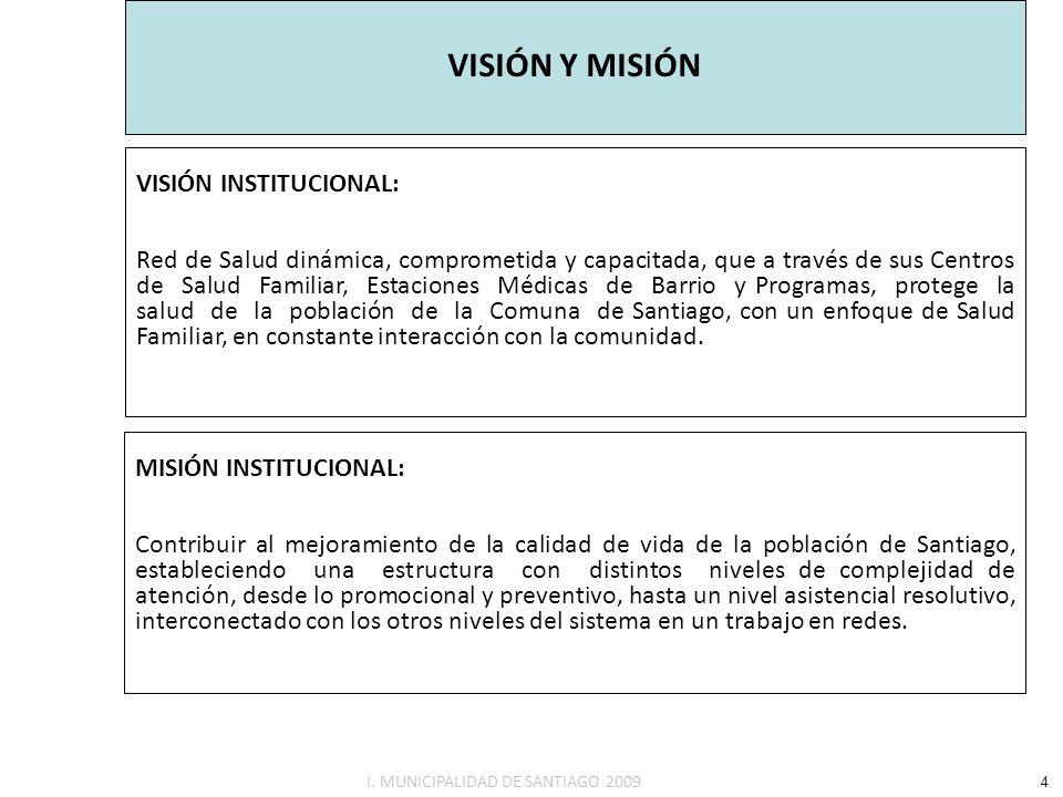 VISIÓN Y MISIÓN VISIÓN INSTITUCIONAL: