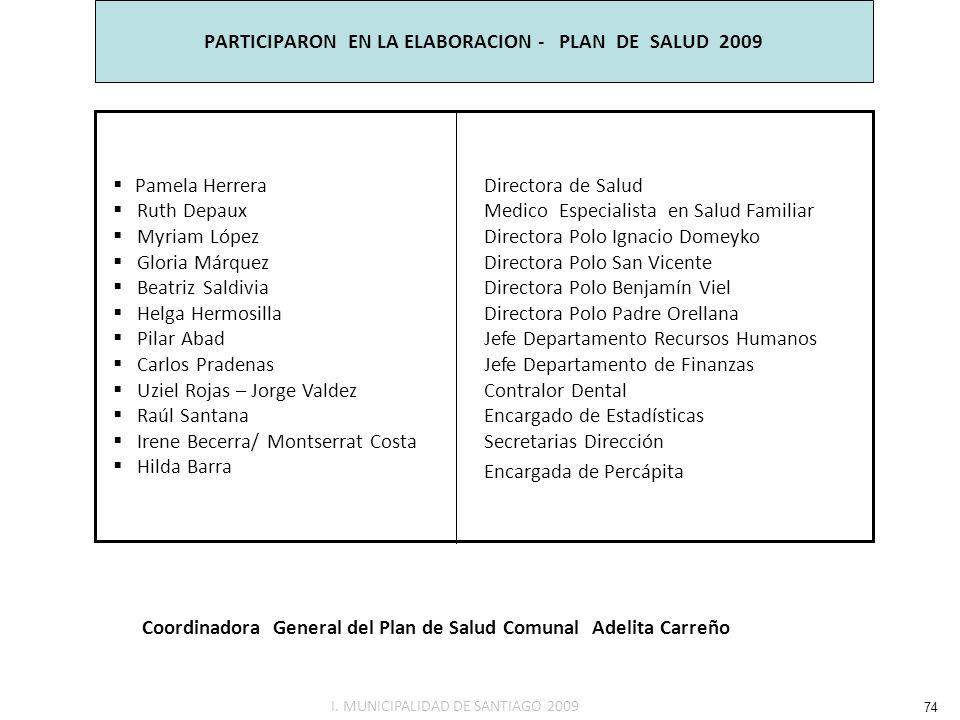 PARTICIPARON EN LA ELABORACION - PLAN DE SALUD 2009