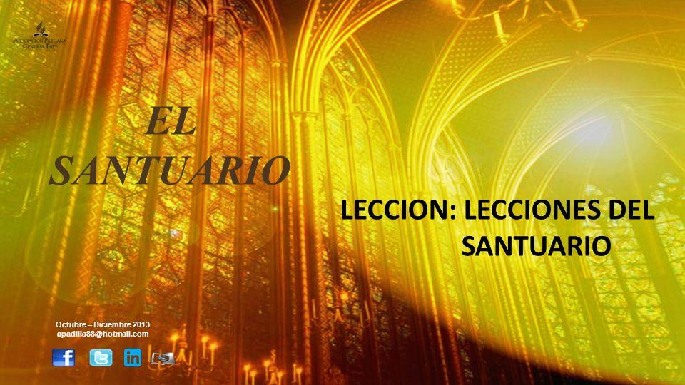 EL SANTUARIO LECCION: LECCIONES DEL SANTUARIO Octubre – Diciembre 2013