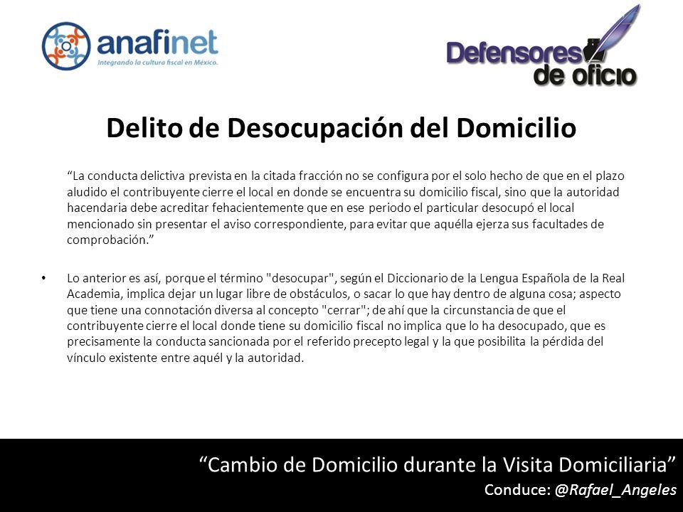 Delito de Desocupación del Domicilio