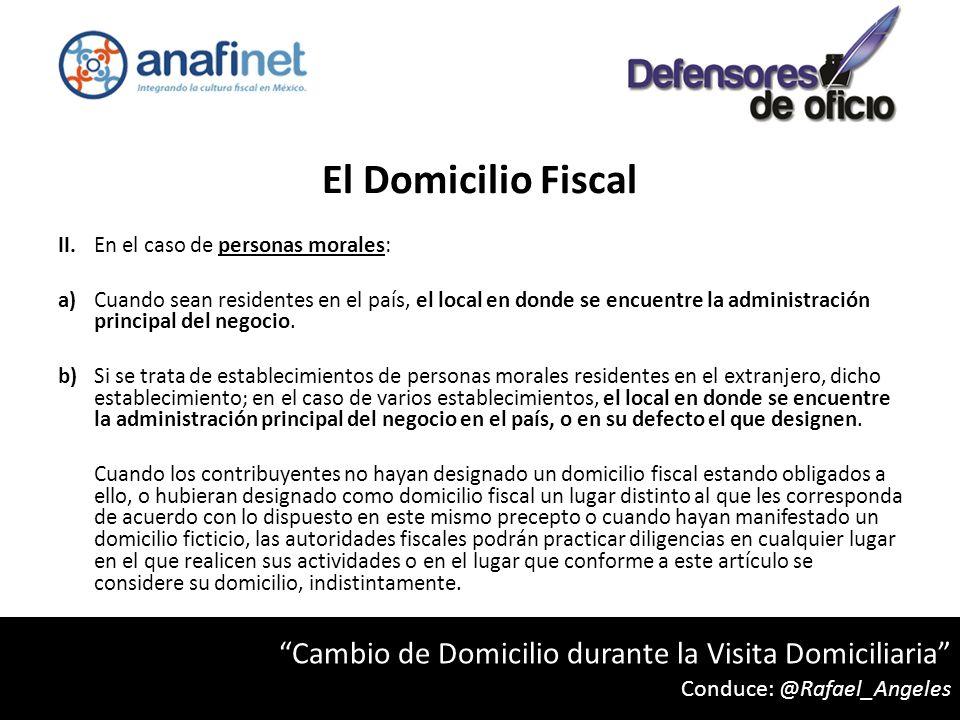 El Domicilio Fiscal