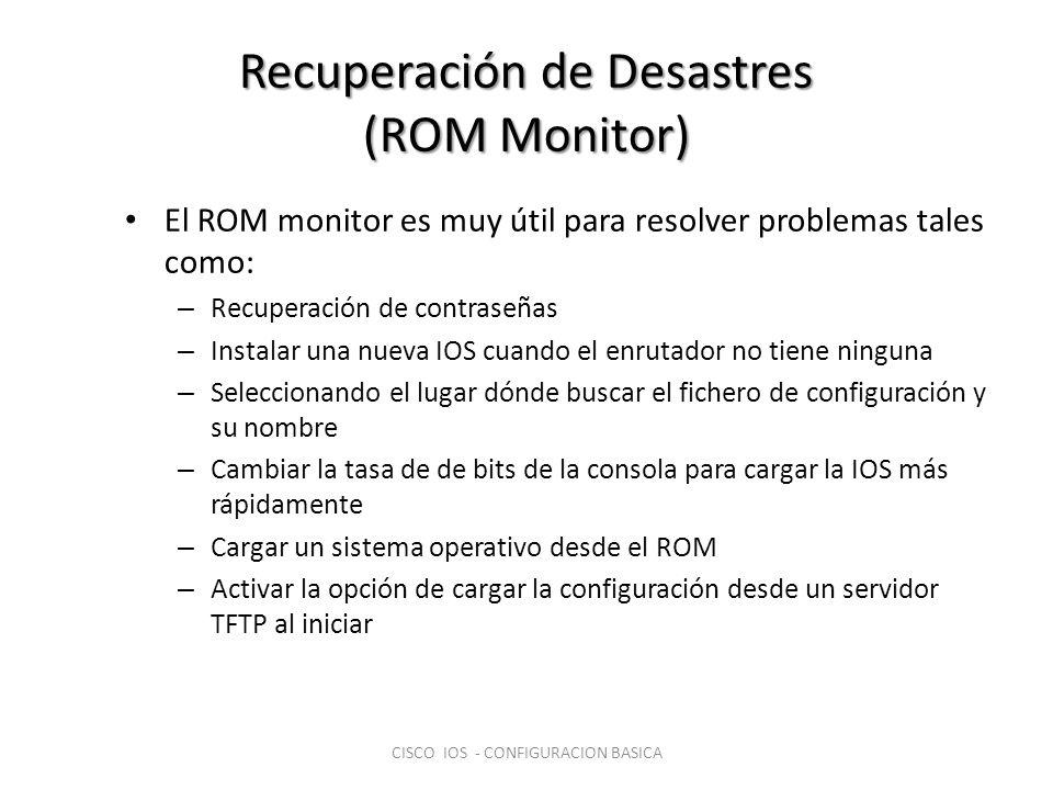 Recuperación de Desastres (ROM Monitor)
