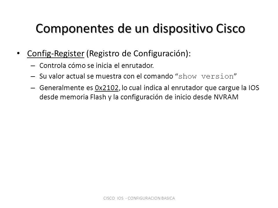 Componentes de un dispositivo Cisco
