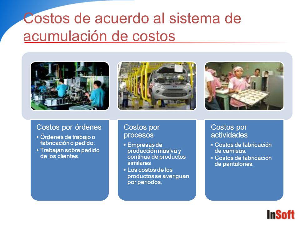 Costos de acuerdo al sistema de acumulación de costos
