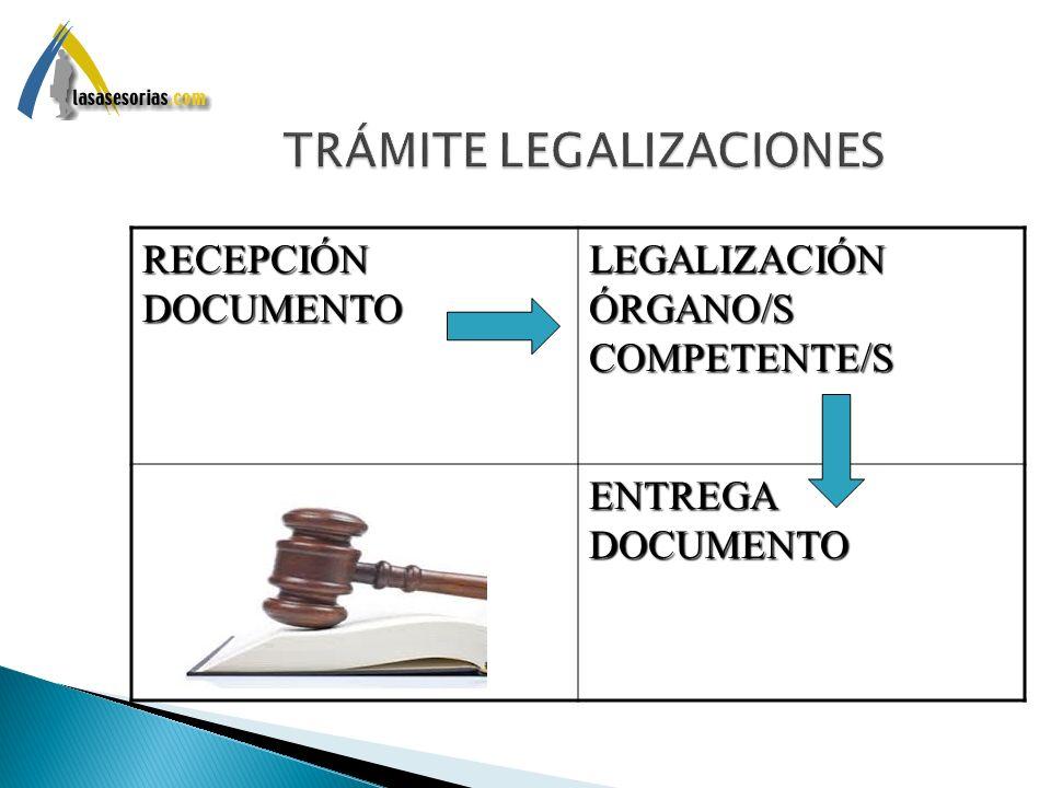 TRÁMITE LEGALIZACIONES