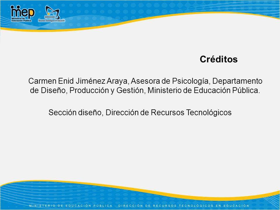 Sección diseño, Dirección de Recursos Tecnológicos