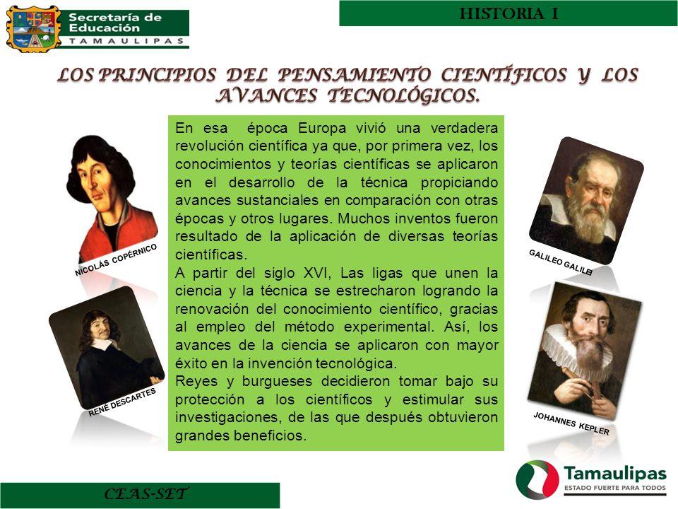 LOS PRINCIPIOS DEL PENSAMIENTO CIENTÍFICOS Y LOS AVANCES TECNOLÓGICOS.