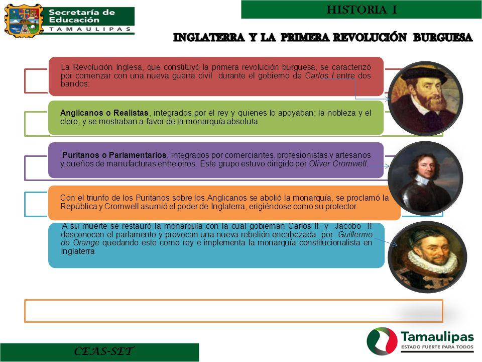 HISTORIA I INGLATERRA Y LA PRIMERA REVOLUCIÓN BURGUESA